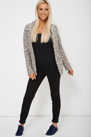 Open Front Textured  Blazer Ex-Branded Limited Stock
