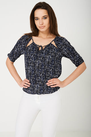 BIK BOK Cold Shoulder Top