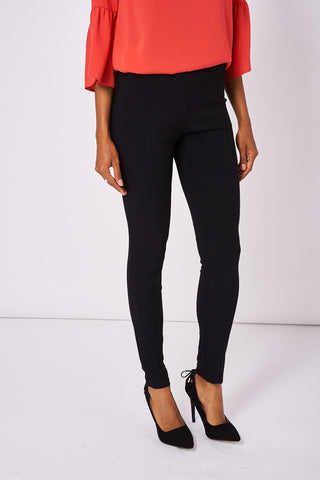 Black Skinny Trousers With Side Zip Ex-Branded Available In Plus Sizes