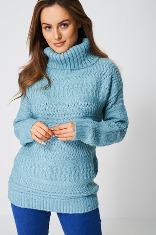 Slouchy Cowl Neck Jumper Ex-Branded