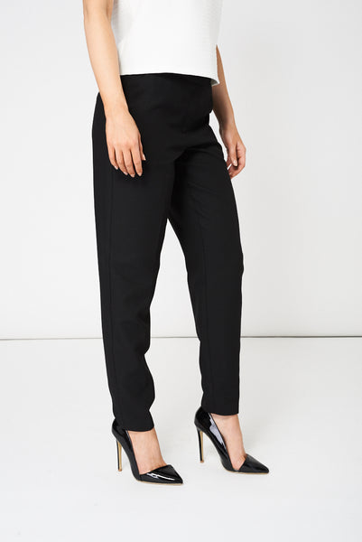 Black Classic Fit Trousers Ex-Branded Available In Plus Sizes