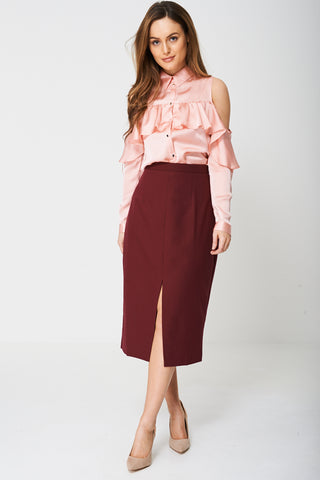 Tailored Pencil Skirt Ex-Branded