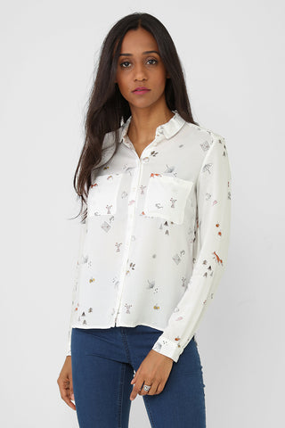 Printed Shirt Blouse Ex Brand
