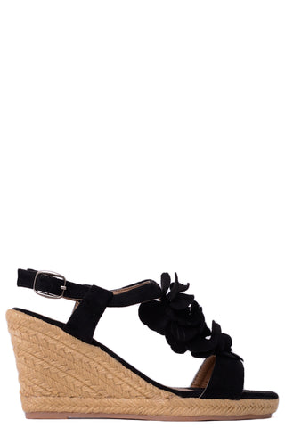 Flower Detail Espadrille Wedge