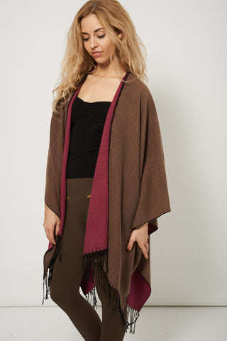 Reversible Winter Knitted Poncho