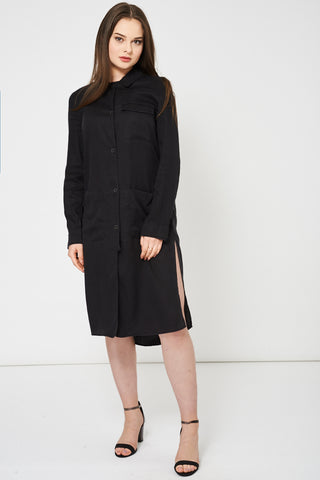 Black Shirt Dress Ex Brand