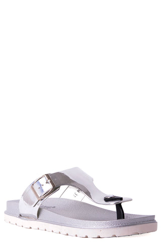 Jelly Flat Sandals in Silver