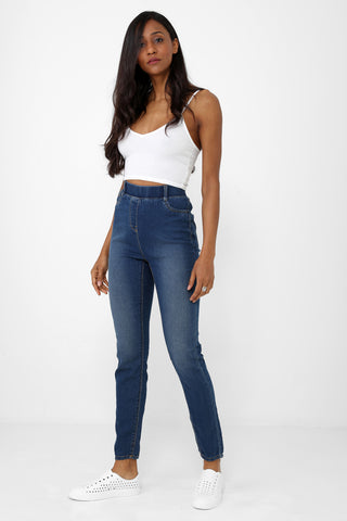 REGULAR High Waist Jegging in Blue Ex Brand