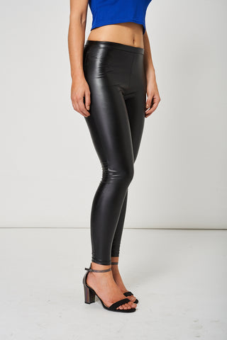 Black Leather Look Leggings Ex-Branded