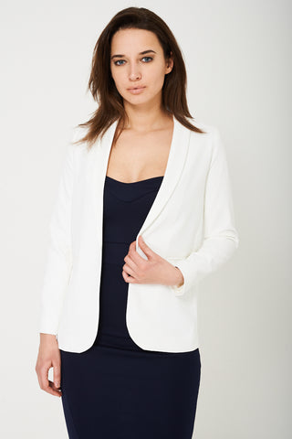 Cream Tailored Blazer Ex Brand