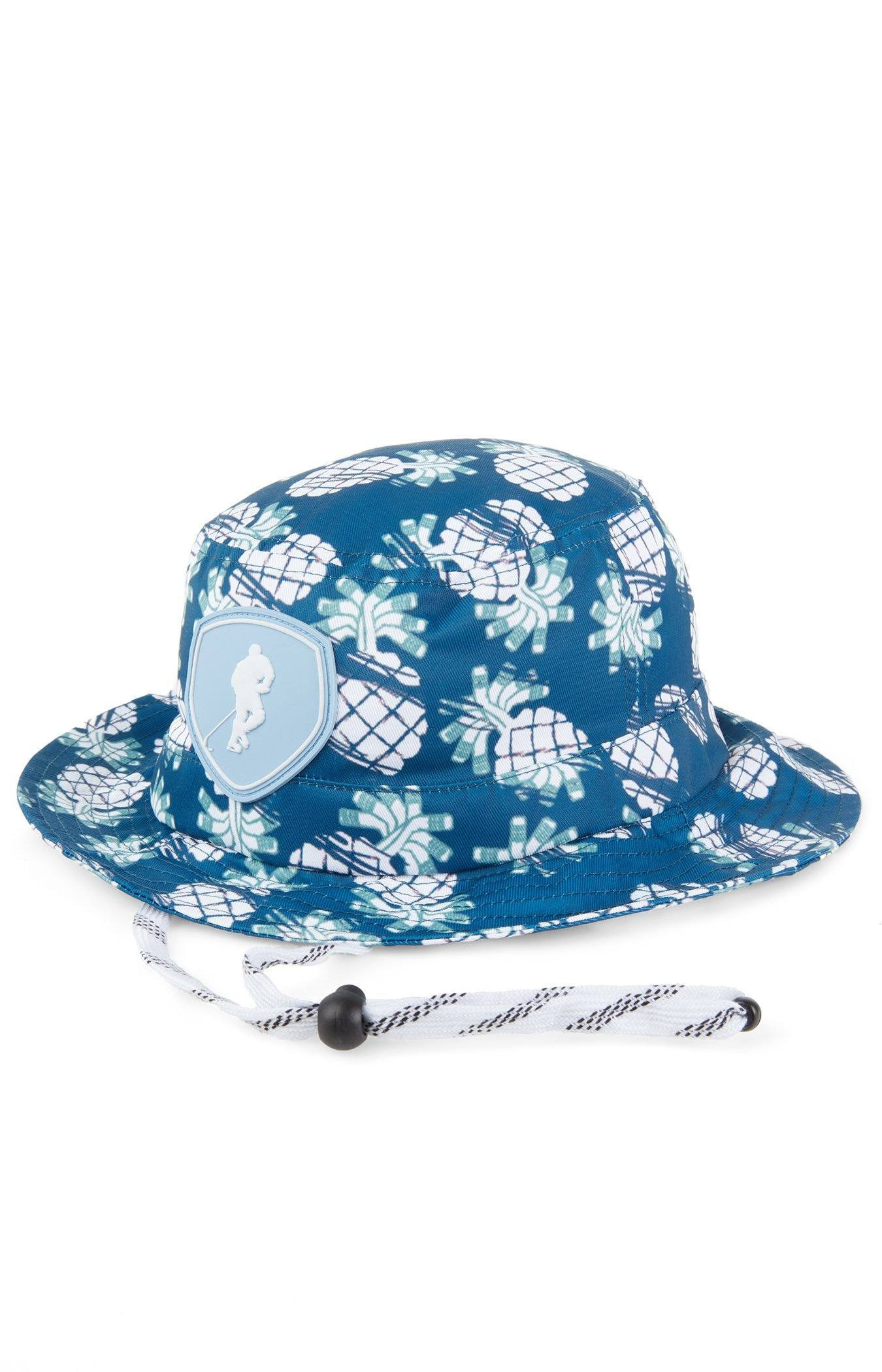 Let s Get Tropical Blue Men s Spring Hockey Hat Bucket – GONGSHOW USA aa64f7df906