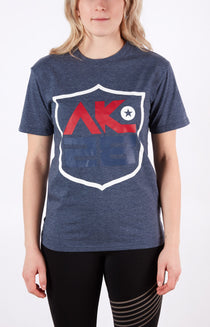 AK28 Unisex Blue Hockey Tee