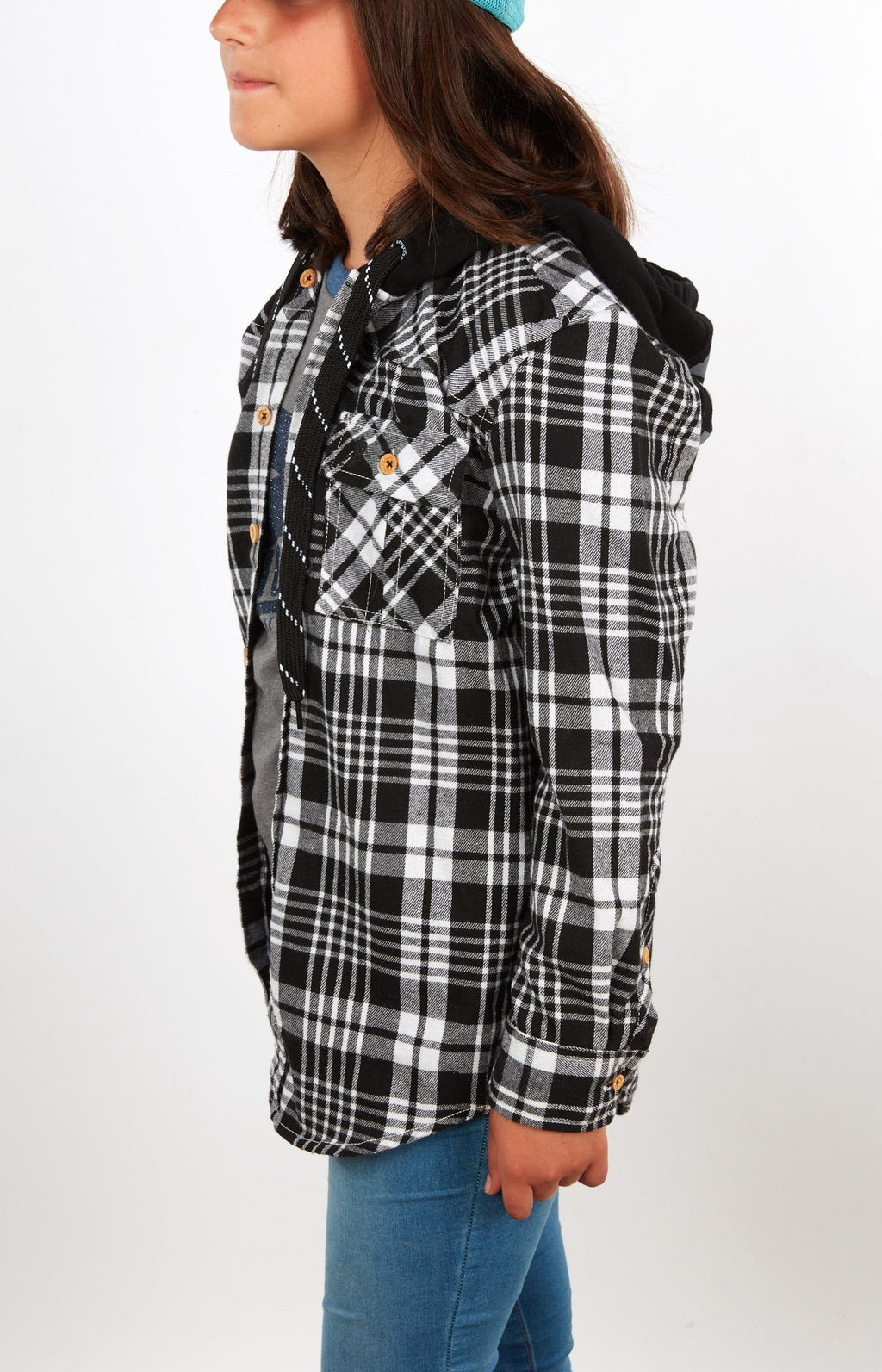 Plaid For The Lad Black/White JR