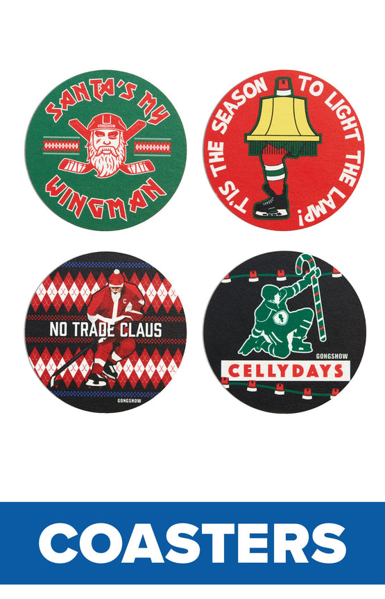 Holiday Coasters - 4PK