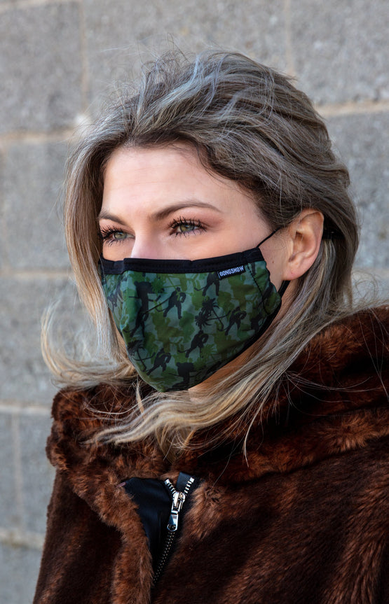 Adjustable Face Mask - Camo