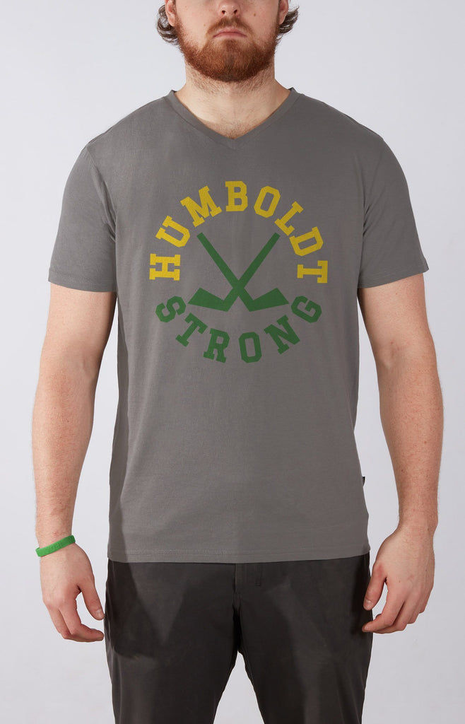 Humboldt Strong V-Neck Grey T-Shirt