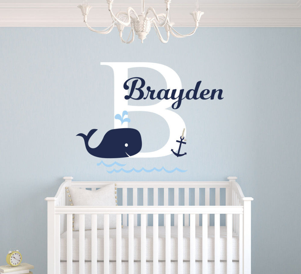 Custom whale wall decal