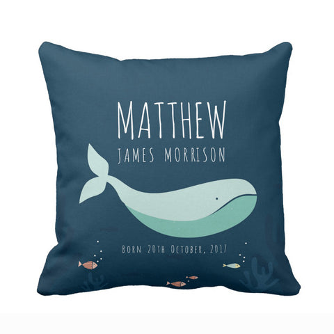 Customised Cushion covers for Nursery-Whale
