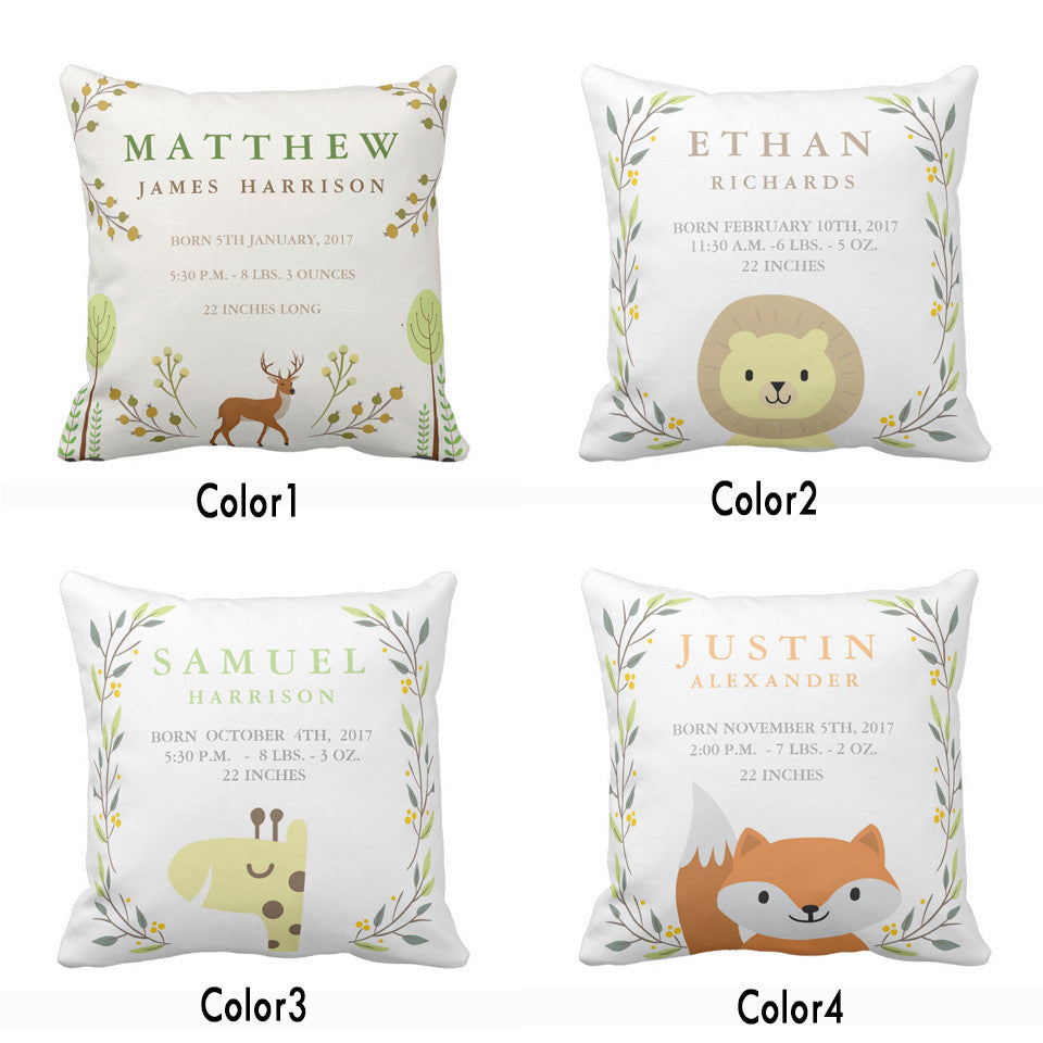 Customized Cushion cover for Nursery-Woodland Animals