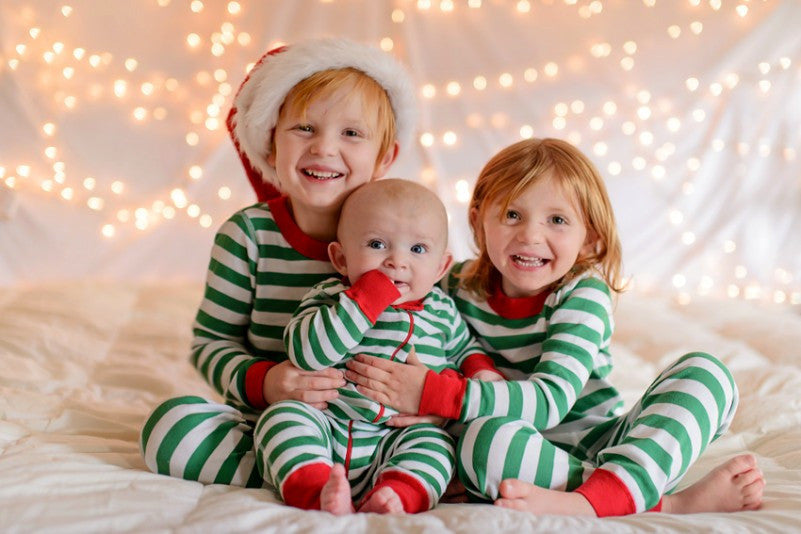 Christmas Striped rompers Full sleeve