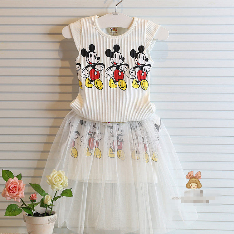 Girls Mickey mouse party dress