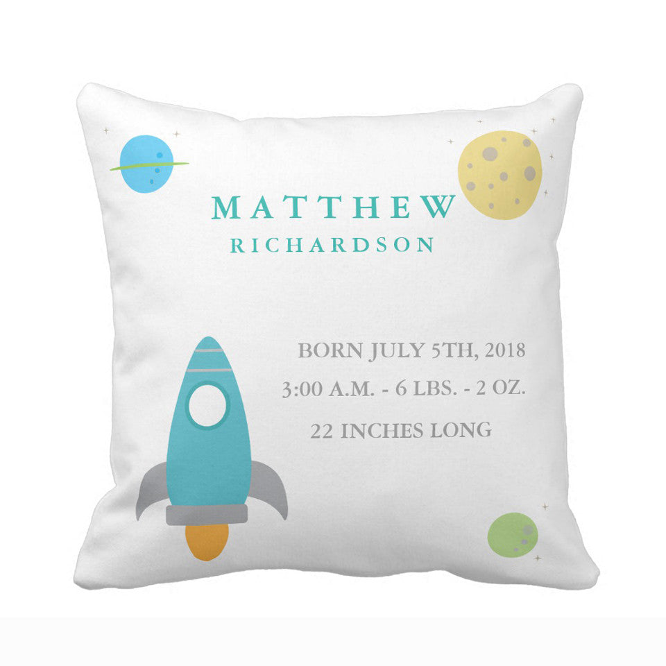 Customized Cushion cover for Nursery-Outer Space