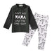 Boys 2 piece  Mama T shirt Pant set