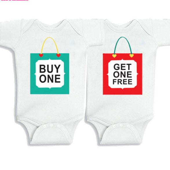 Twin rompers Set of 2 -Buy one get one