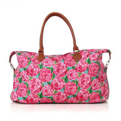 Lilly Pulitzer Inspired weekender bag-overnight bag