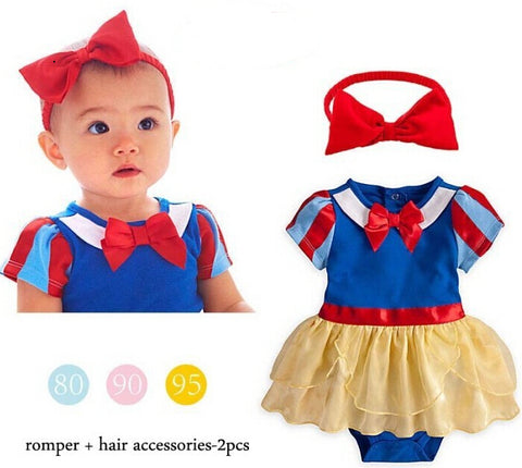 Baby Snow White Romper with Matching Headband