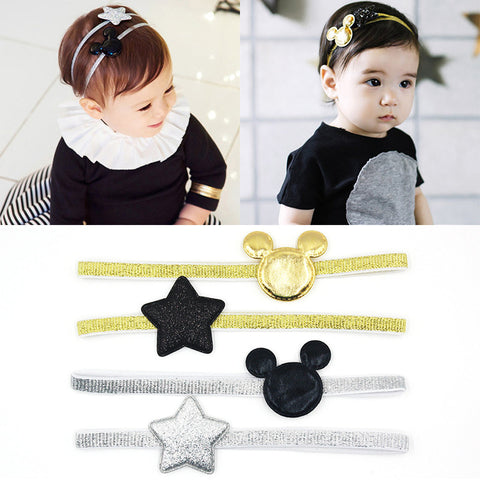 2 PCS  Mickey Children's Elastic Hair Band