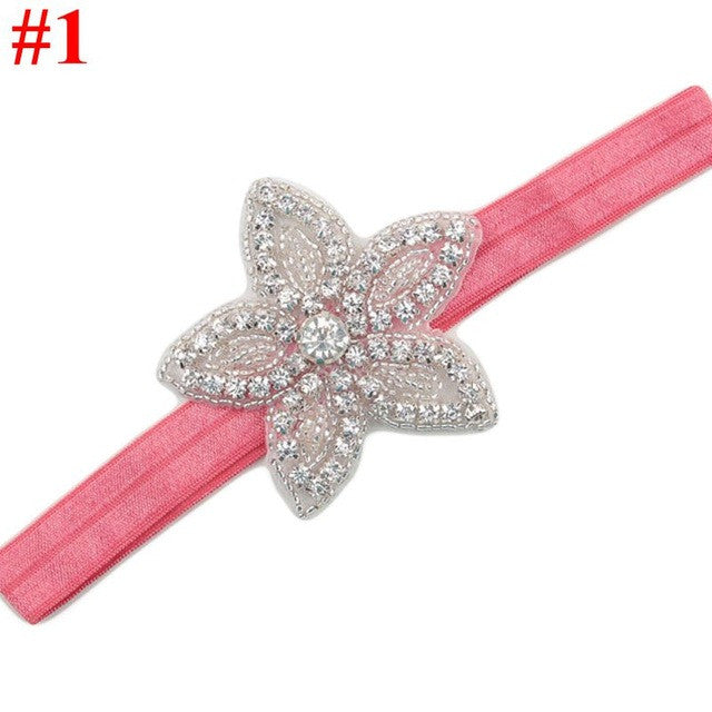 Rhinestone Flower Star Headband-Girls