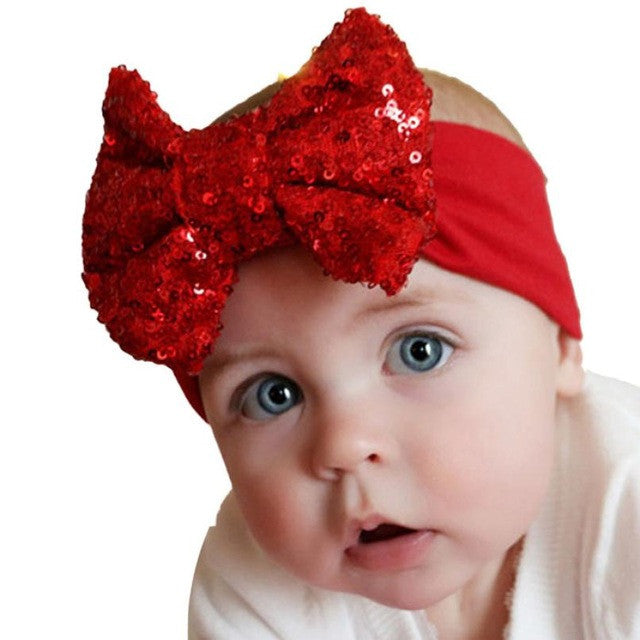 Cute Sequins Bow Headband