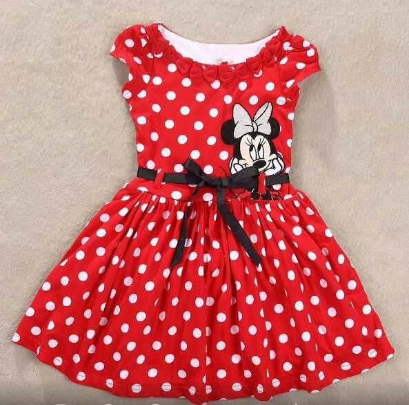 bfe2085e4 Girls Minnie Mouse Polka dots Dress – Haute for Tots