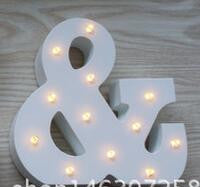 Wooden 26 Letter Alphabet LED Sign Marquee Light Up Night LED Lamp Nursery