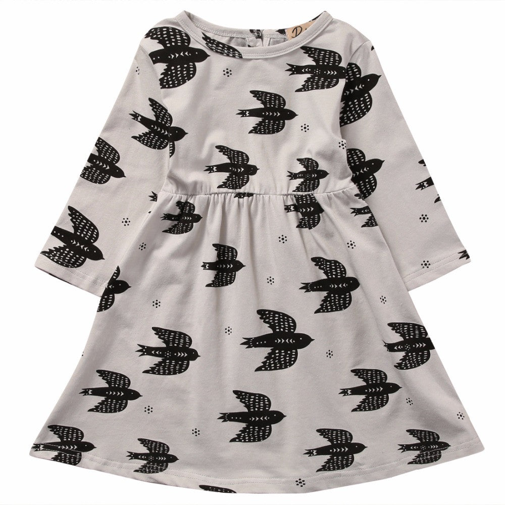 Girls Swallow Casual Dress