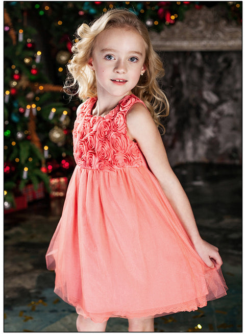 Girls Party Princess Flower Girls Dress Age 2 3 6 8 Year