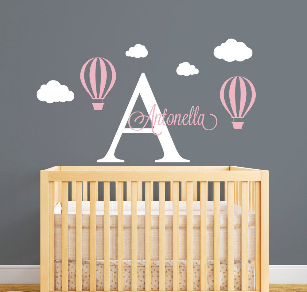 Personalized  Hot Air Balloon Wall Stickers