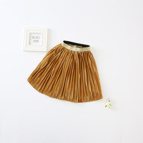 Girls Pleated Maxi Skirt