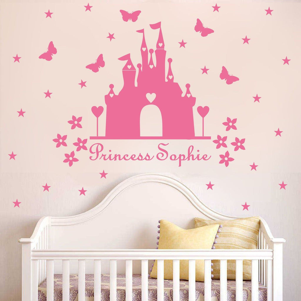 Personalized Princess castle  wall Decal