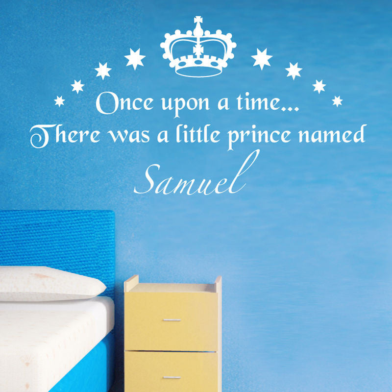 Personalized Boy's Prince Wall Decal