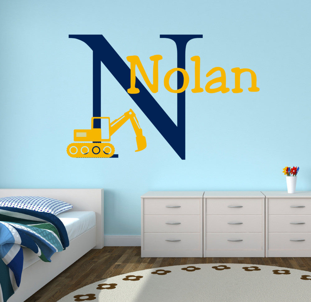 Personalized Truck Name Wall Decal