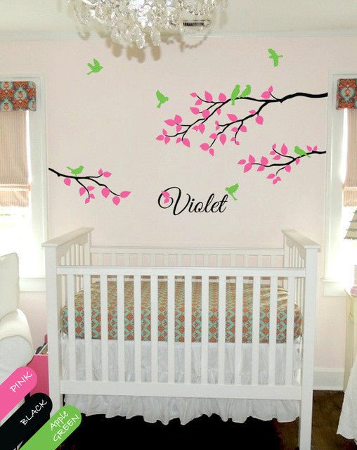 Personalised Baby Name Tree Branches Wall Decals