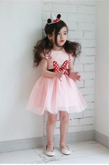 Girls  Minnie bow knot  party dress
