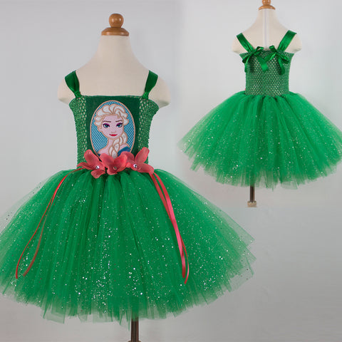 Green Elsa Princess Costume