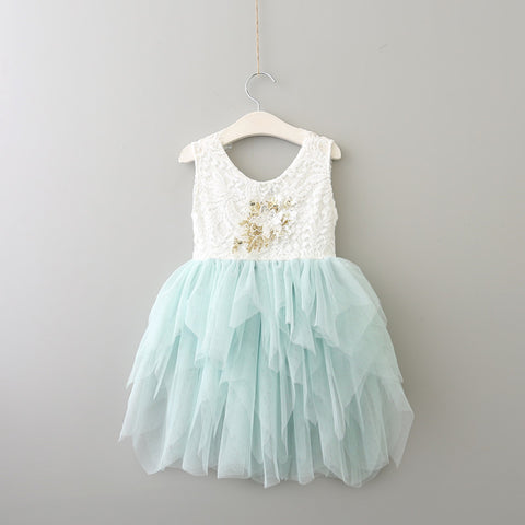 Girls Puffy Tulle Dress-3 colors
