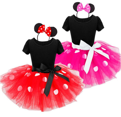 Minnie Mouse Costume Dress with headband