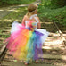 Bright Rainbow Unicorn Bustle Tutu Dress Birthday Halloween Costume Holiday Dress