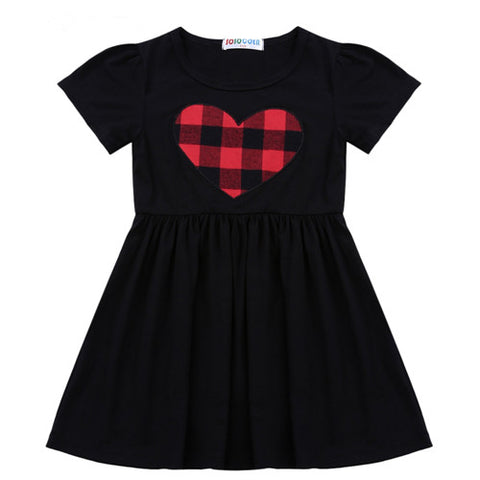 Plaid Heart Girls dress