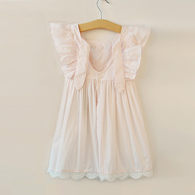 Girls Pink Vintage Dress